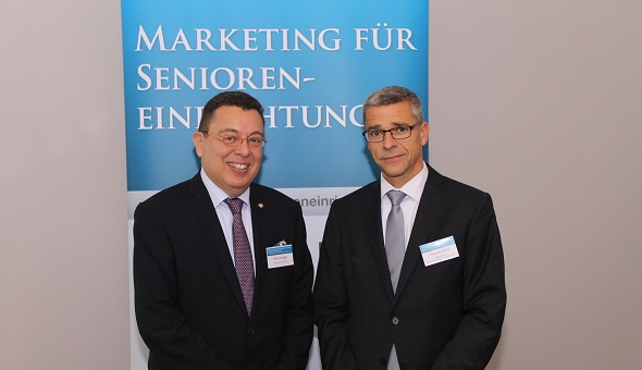 Felix Grieger, Villeroy & Boch AG (links) und Dr. Thomas Hilse, Inhaber der HILSE:KONZEPT Marketing- und Kommunikationsberatung, Haan.