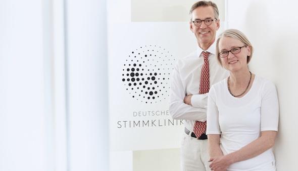 Die ärztliche Leitung der DEUTSCHEN STIMMKLINIK: Prof. Markus M. Hess und Dr. Susanne Fleischer.