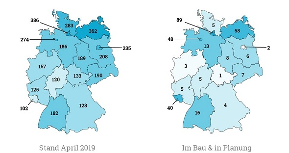Betreutes Wohnen: Plätze pro 10.000 Einwohner ab 65 Jahren.